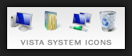 Windows Vista system icons for the desktop