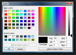 Windows Vista's custom color picker