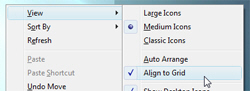 Turn on or disable Align-to-Grid in Windows Vista