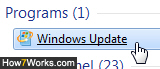 Access Windows Updates in Windows 7