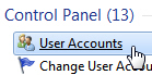 Access user account profiles on your Windows 7 computer