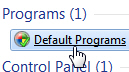Access your Windows 7 default programs