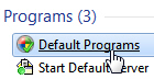 Access your default programs settings in Windows 7