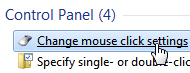 Access your mouse's click options and settings in Windows 7