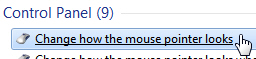 Access your mouse pointer schemes in Windows 7