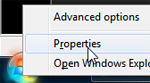 Access your start menu options and settings in Windows 7