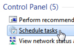 Add and schedule a task in Windows 7 Task Scheduler