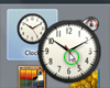 Add the clock gadget to your desktop