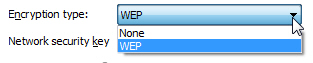Change wireless network encryption to WEP in Windows 7