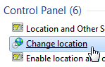 Change country location in Windows 7