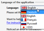Change the language options of a program in Windows 7