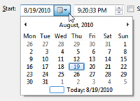 Choose date and time for your reminder notification