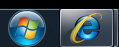 Combined large icons inside the Windows 7 taskbar
