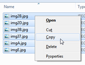 Copy files inside a compressed folder