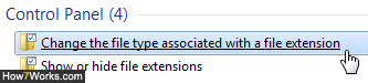 Customize file extensions in Windows 7