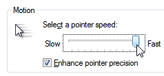 Customize mouse pointer speeds in Windows 7