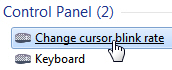 Customize your cursor blink rate in Windows 7