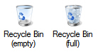 Default Recycle Bin icons (full and empty) in Windows 7