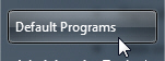 Default programs button on the Windows 7 start menu