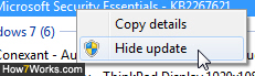 Disable and hide Windows Updates