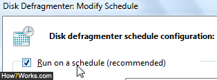 Disable automatic defragmentation in Windows 7