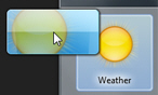 Drag and drop the weather gadget to add it to the desktop