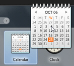 Drag the calendar gadget to add it to your desktop