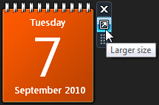 Expand the calendar gadget to show current month in Windows 7