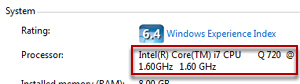 Fast CPU Processor speed in Windows 7 / Vista