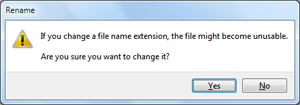Include the file extension when renaming files in Windows 7