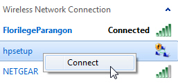 Join and connect to another wireless network in Windows 7