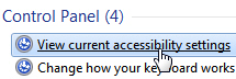 Load keyboard and mouse accessibility settings in Windows 7