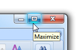 Manually restore, maximize, or minimize a program window in Windows 7