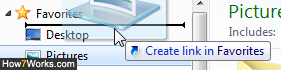 Move Favorites folders in Explorer for Windows 7