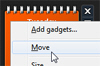 Move a desktop gadget with your keyboard in Windows 7