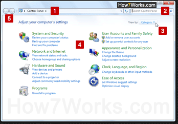 New Control Panel in Windows 7