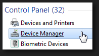 Open the Device Manager in Windows 7