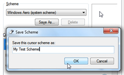 Safely duplicate the current mouse pointer scheme
