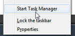 Start the Windows 7 Task Manager from the taskbar