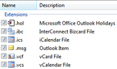 The particular defaults Microsoft Outlook can handle in Windows 7