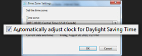 Turn off Daylight Saving Time in Windows 7
