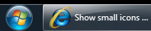 Uncombined large icon buttons in the taskbar in Windows 7