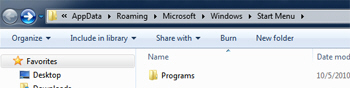 View the content of your Windows 7 start menu in a Windows Explorer folder