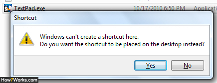 Windows 7 cannot create a shortcut in system folders