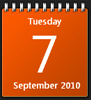 Windows 7 Calendar gadget