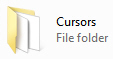 Windows 7 Cursor folder
