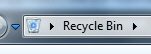 Windows 7 using the new Recycle Bin icon in Windows Explorer