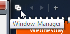Access the Window Manager from the Sidebar