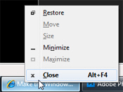 Get the classic context menu in Windows 7 taskbar