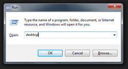 Open the desktop as a folder in Windows Explorer